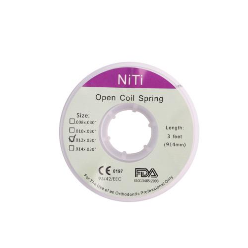 1Pcs / Roll 3 Feet Dental Orthodontic Niti Open Coil Spring 914mm 4 Sizes For Choise