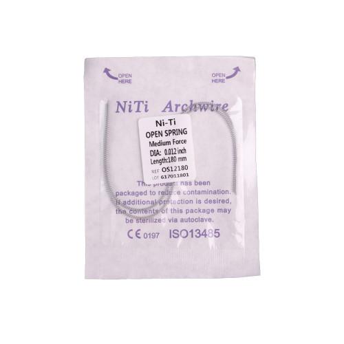1/10/20 Pack Dental Orthodontic Open Coil Spring 180mm Niti Alloy Medium Force 2 Sizes Choose
