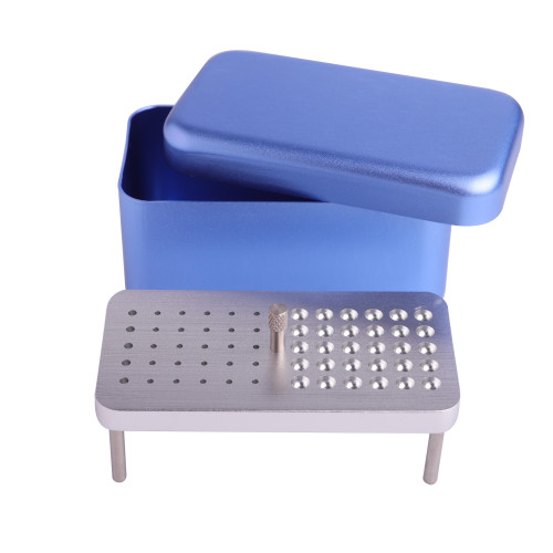 60 Holes Dental Disinfection Box Endo Files Polisher Burs 3 Use Autoclave Holder