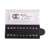 10Kits OC Brackets Dental Orthodontic Metal Brackets MIM Braces Mini MBT/Roth 022/018 Hooks 3-4-5