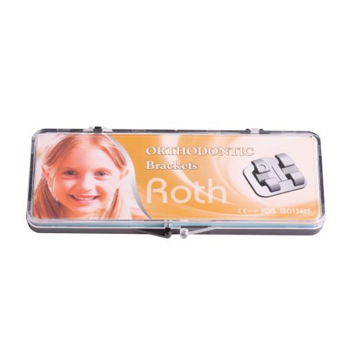 Dental Orthodontic Metal Brackets Bondable Mini Roth Vertical V-Slot Roth/ MBT 022 3-4-5 Hooks