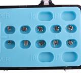 10 Packs Dental Orthodontic Bondable Metal Brackets Mini Roth/MBT 018&022 Hooks 345