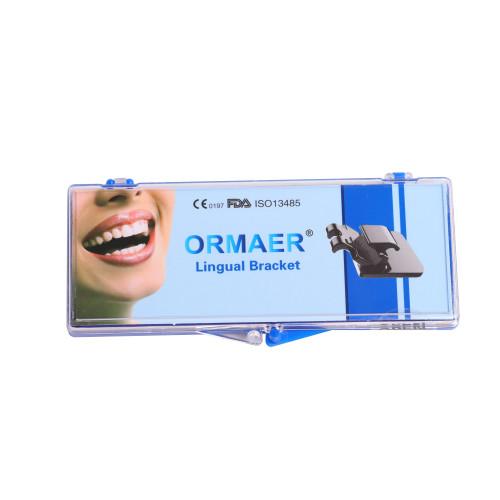 20Pcs/Kit Orthodontic Lingual Brackets Dental Metal Braces Mini Roth 0.018