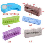 1Pc Dental Endo Block File Measuring Tools Endodontic Ruler Test Board Autoclavable