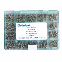 Dental Orthodontic Bracket Metal Braces Dental Monoblock & Split Mini MBT&Roth.022 345 Hooks