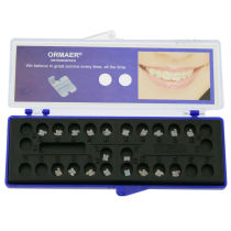 5Pack ORMAER Dental Orthodontic Ceramic Braces Brackets Roth/MBT 022 Hook 3-4-5