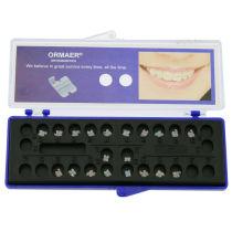 20Pcs/Box ORMAER Dental Orthodontic Ceramic Braces Brackets Roth/MBT 022 Hook 3-4-5