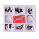 100pcs Dental Matrix Sectional Contoured Metal Matrices Bands Dental Matrix Rings Dental tools