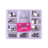 36Pcs/Box Dental Matrix Sectional Contoured Tooth Metal Matrices Kit Saddle Universal Springclip 330