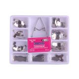 36Pcs/Box Dental Matrix Sectional Contoured Tooth Metal Matrices Kit Saddle Universal Springclip 330