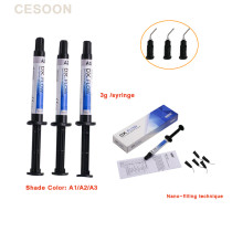 1PCS Dentex Composite Medium Flow  Nano Light Cure Flowable Resin Shade Tooth A1 A2 A3 For Aesthetic restoration