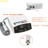 1 PCS COXO Dental LED Light Brushless Electric Micro Motor System 2 holes Increasing Handpiece 1:1 1:16 1:5