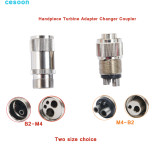 Dental High Speed Handpiece Turbine Adapter Changer Coupler 2 To 4/4 To 2 Holes