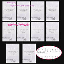 100Pcs/10Packs Dental Orthodontic Spring Single Anterior Tooth Torque Rectangular Spring Arch Wire