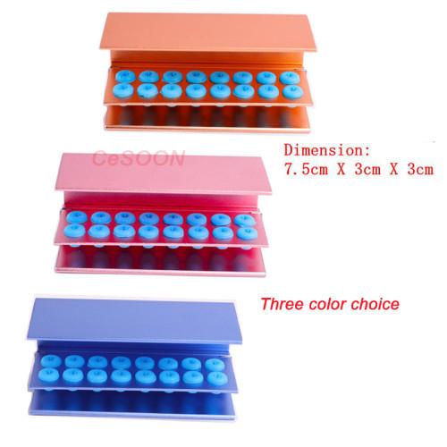Dental Bur Block Holder 16 Holes Autoclavable Disinfection Box Sterilizer Fit for FG RA/CA Burs