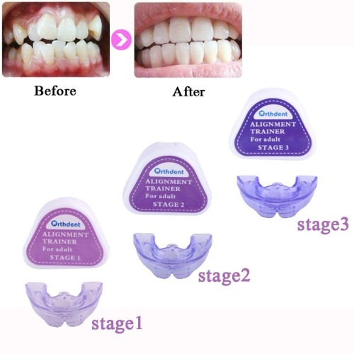 1 Pcs Teeth Trainer Braces Dental Orthodontic Retainer Appliance Mouthpieces 3 Stages