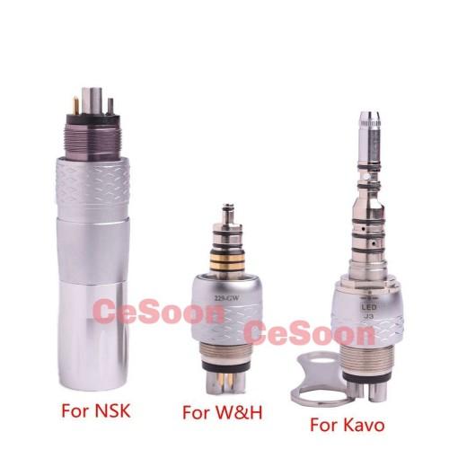 COXO Dental Quick Coupling Swivel LED Bulb for Fiber Optic Handpiece 6 Hole CX229 GK GW GN