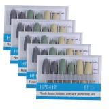 12Pcs Dental Silicon Polishing Polisher HP 0412/0312 Diamond Burs Resin Porcelain Composite Polishing Kit