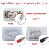100 pcs dental Nylon Flat prophy brush polishing latch type black/white/mixed colors dental brush