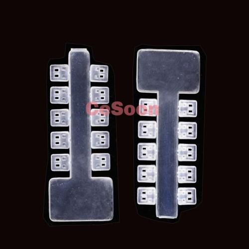 20Pcs/Bag Dental Rotation Elastics Wedges Elastomeric Clear White Transparent Wedge Rubber