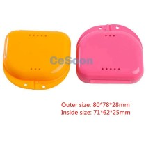 Dental Orthodontic Retainer Denture Storage Case Box Mouthguard Container Case ventilation 2 Colors