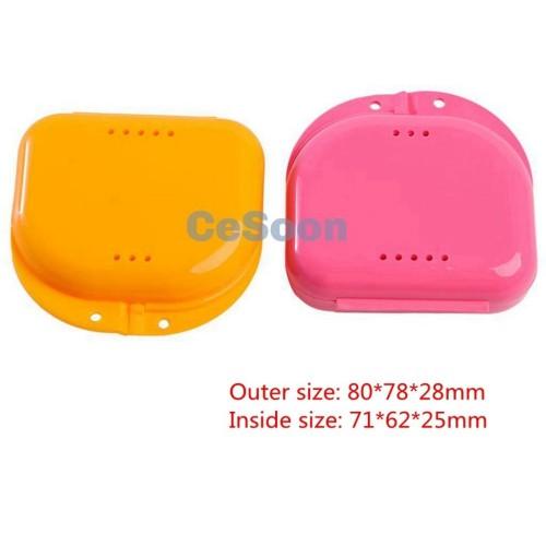 Dental Orthodontic Retainer Denture Storage Case Box Mouthguard Container Case ventilation 2 Colors