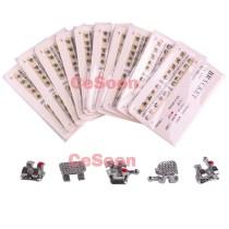 10Packs Dental Orthodontic Metal Brackets Braces Mini Roth/MBT 022 Hooks 3-4-5 Easy Bonding and De-bonding
