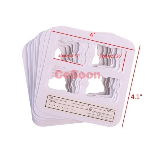 100Pcs/Box Dental Universal X-Ray Film Mount Frame 4Holes For Clinic Record