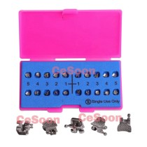 20Pcs/Box Dental Orthodontic Self Ligating Brackets Braces Stainless Steel Clip Mini Roth 022 Hooks 345