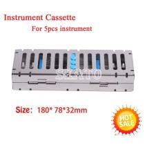 1Pcs Dental Surgical Sterilization Box Cassette Autoclave For 5  Instruments