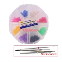 160Pc/Box Instrument Code Ring Band Autoclavable Medical Hygienist Grade Silicone Material Mixed Colors