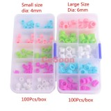 100Pcs/Box Orthodontic Silicone Ring Autoclavable Code Mixed Color Instrument Large Small