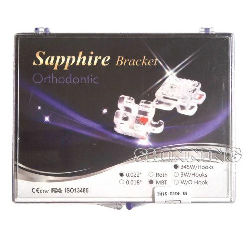 Dental Monocrystalline Sapphire Ceramic Bracket Brace Mini Roth 022 MBT 022 Hooks 345