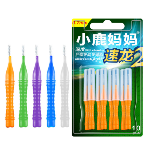 10Pcs Interdental Brush Floss Sticks Tooth Floss Head Toothpick Cleaning Brush