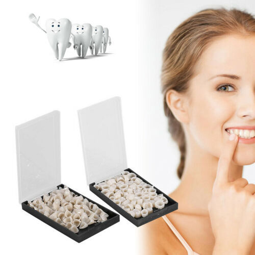 100x Temporary Porcelain Crown Posterior+Anterior Teeth Caps Molar Resin Dental