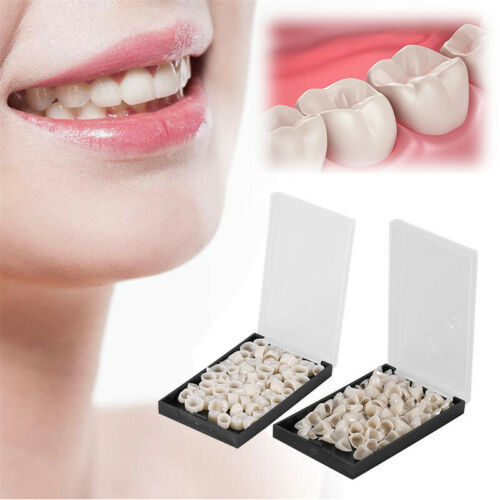 100x Temporary Porcelain Crown Posterior+Anterior Teeth Caps Molar Resin Dental