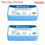 2 cajas de tubos bucales de 1er molar de ortodoncia dental MBT ROTH 022 Monoblock no convertible