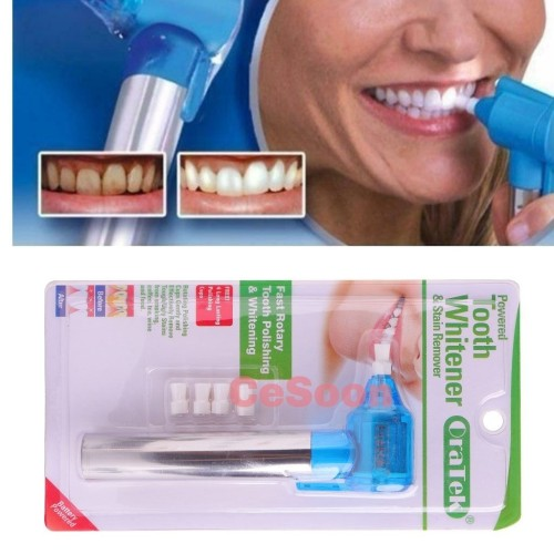 Oratek Teeth Polisher Stain Remover Whitener + Polishing Paste Mint Taste(20cups) & walterberry Taste(20 cups)