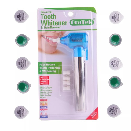 Oratek Teeth Polisher Stain Remover Whitener + Polishing Paste Mint Taste(20cups) & walterberry Taste(20 cups)