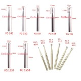 10Pcs Dental Carbide Burs Tapered Fissure Friction Grip for High Speed HP