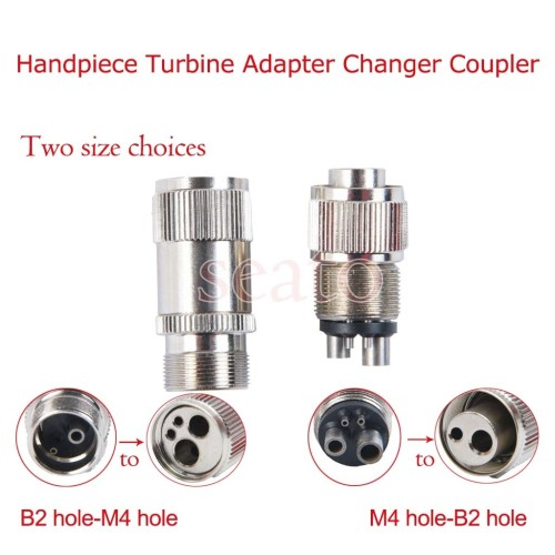 1PCS dental Handpiece Turbine Adapter Changer Coupler transform 2-hole/4-hole handpiece to 4 hole/2 hole dental tools