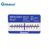 10Packs Dental Orthodontic Brackets Braces Metal Mini Roth/MBT/Edgewise 022/018 Hooks 3-4-5 For Dental Treatment