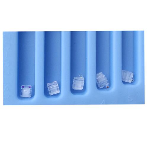 Dental Orthodontic Clear Ceramic Self Ligating Brackets Mini Roth/MBT 0.022 Hooks 345 /0.022 Hooks 3