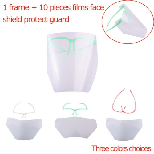 Dental  Full Face Shield Safety Anti-Fog Safety Glasses+Clear Visors Dustproof Lab Equipment green/white/pink/blue color