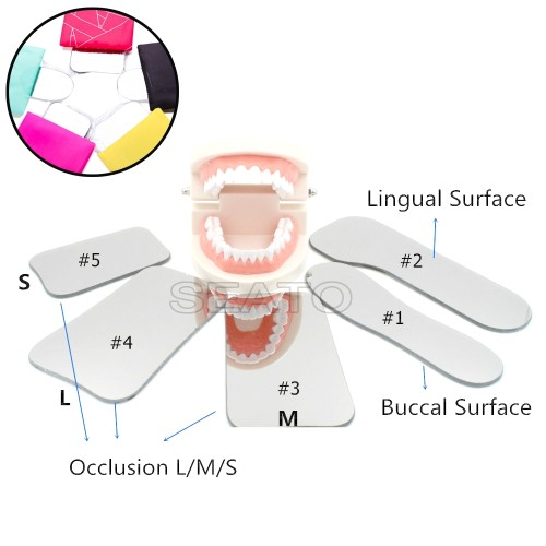 5PCS Dental Orthodontic Intraoral Photographic Reflector Mirror 2 Sided Glass Mirrors Dental Tools Glass Material Dentist
