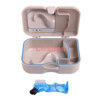 New Denture Box with Mirror And Clean Brush More Convenient