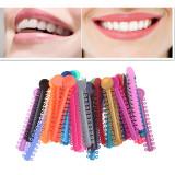 2080Pcs Orthodontic Ligature Ties Soft Multi-Color Orthodontic Elastomeric Rings Braces Rubber Bands for Braces Brackets(2 bag,1040pcs/bag)