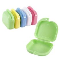 5Pcs Denture Retainer Box Dental Orthodontic Retainer Denture Storage Case Box Mouthguard Container