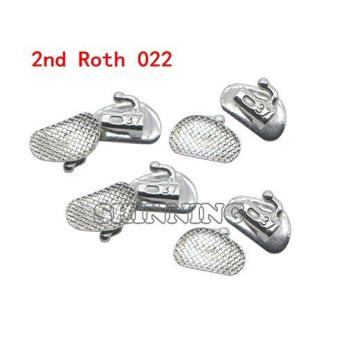 80Pcs Dental Orthodontic Bondable Buccal Tubes Split 1st 2nd Molar MBT Roth 022 018  Non Convertible