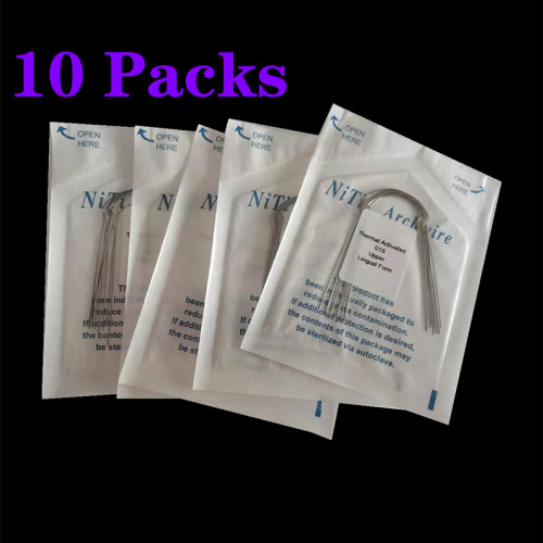 10 pack Dental Orthodontic NiTi Arch Wire Lingual Heat-Activated Arch Wires(Round)